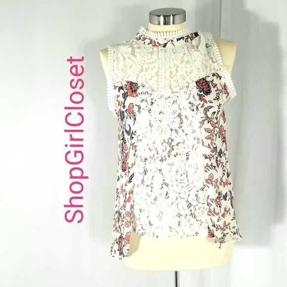 Self Esteem Lace Tunic....Floral/Lace...Size M